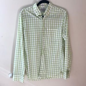 J. Crew checkered button down work shirt in small